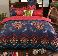 Mandala Ethnic Bedding Set Cotton Quilt Duvet Cover Set Twin Queen King Size