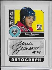 08-09 Heroes and Prospects Derick Brassard Auto