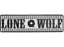 """(L42) REFLECTIVE LONE WOLF with BULLETS 10"""" x 2.75"""" iron on patch (1375)"""