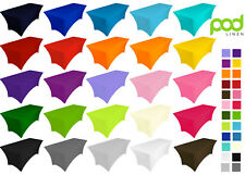 25 colors . spandex lycra stretch cover tablecloth for 6ft foot table 183x75x75