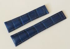 22/18mm for TAG Heuer Monaco Navy-Blue Alligator-Style Band Strap