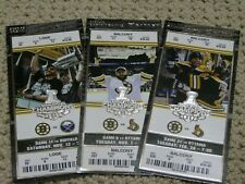 Boston Bruins Stanley Cup Champions Lot of 3 Ticket Stubs Chara Thomas Horton