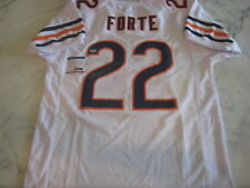 MATT FORTE Signed WHITE Chicago BEARS Jersey w/ PSA COA
