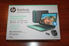 "New HP 15-ba052wm 15.6"" Touchscreen Laptop Bundle/AMD A10/8G/1TB/Win10/Teal"