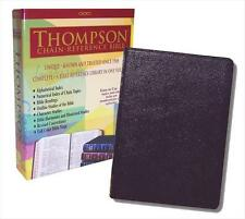 KJV Thompson Chain-Reference Black Genuine Leather Bible, Large PrInt, Indexed