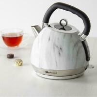 Marble Effect 1.8L Cordless Electric Kettle Jug Rapid Boil Kitchen 2200W White