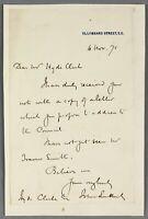 1875   ALS letter scientist evolutionist John Lubbock to philologist Hyde Clark