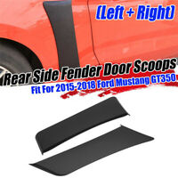 Rear Fender Penal Flare Side Scoops Vents For 2015-2020 Ford Mustang GT Style