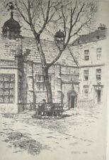REGINALD GREEN -  Etching - Staple Inn, London  - Pencil Signed