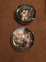 """Little Companions"" Set Of 2 Plates By M.J. Hummel -  Danbury Mint"