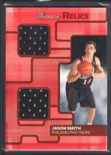 JASON SMITH 2007/08 BOWMAN RELICS GAME USED JERSEY 76ERS 44/50 SP $12