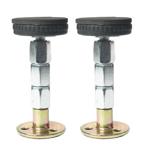 2X ADJUSTABLE THREADED BED FRAME ANTI-SHAKE TOOL HEADBOARD STOPPERS EASY