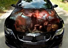 Warrior Girl Hood Full Color Graphics Wrap Decal Vinyl Sticker Fit any Car #296