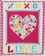 Valentine Big Love Heart 3D Handmade & Finished Wall Hanging Quilt
