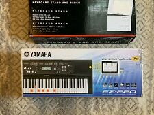 Yamaha EZ-220 Portable Keyboard with Stand and Bench