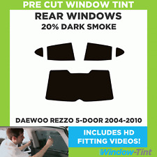 Pre Cut Window Tint - Daewoo Rezzo 5-door 2004-2010 - 20% Dark Rear
