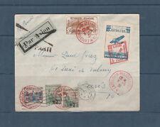 frb/ enveloppe exposition poste aérienne Lyon 1931orphelins et vignette aviation