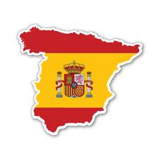 SPAIN MAP SILHOUETTE FLAG VINYL CAR VAN IPAD LAPTOP STICKER Spanish