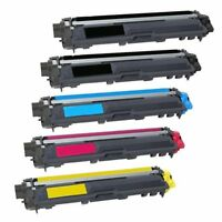 5 Pack TN221 TN225 Toner Ink for Brother hl 3170cdw mfc-9340cdw mfc-9130cw