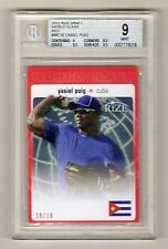YASIEL PUIG 2012 RIZE DRAFT WORLD CLASS RED SP ROOKIE RC # 10 / 10 BGS 9 DODGERS
