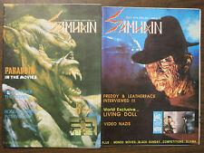 Samhain Horror Magazine #13 + 14 Lot Feb.-May 1989 Paranoia Freddy Kreuger ++