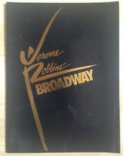 Programme Comédie musicale Broadway Jerome Robbins Imperial Theatre NY 1989