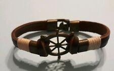 VINTAGE Ships Wheel Bracelet Leather band