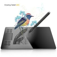VEIKK A50 Graphics Drawing Tablet with 8192 Pressure (Battery-Free Passive Pen)