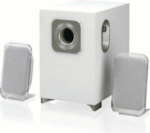 SANDSTROM SSP21BT19 2.1 Bluetooth Wireless PC Speakers With Subwoofer - White