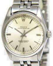 Rolex Vintage Oyster Perpetual Steel Silver Dial Mens 34mm Automatic Watch 1002