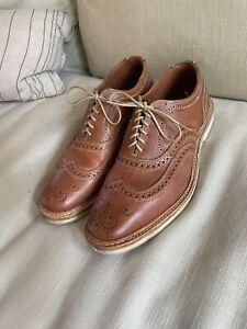 Allen Edmonds Neumok 2.0 Tan Wingtip Oxford Shoes 9.5D
