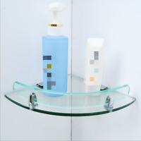 7mm Wall Mounted Tempered Glass Corner Shelf Bathroom Shower Mini Shelf Storage