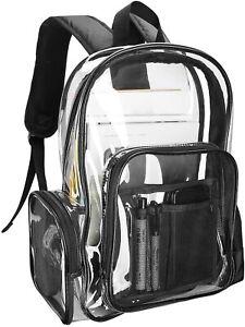 Clear Backpack Women Girl, Waterproof Transparent Plastic Bag Beach Gym Schools