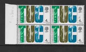 1968 GB - British Anniversaries - TUC, - Block of Four - MNH.