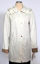 Jones New York Raincoat Coat Size L A Line Hooded Water Resistant Women's New*