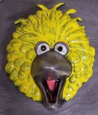 Pewter Belt Buckle cartoon Sesame Street Big Bird yellow NEW