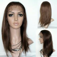 BRAZILIAN GLUELESS FULL LACE WIG 20INCH STRAIGHT COLOR 4# 130% DENSITY FAST SHIP