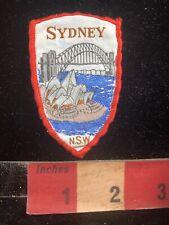 Vintage SYNDEY HARBOUR BRIDGE Australia Woven Patch C99K