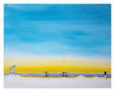 Surfers On The Beach 12x16 Fine Art Print of Original Painting