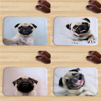 Tapis Bedroom Doormat Indoor Print Cute Pug Dog Door Mat Flannel Floor Mat Rugs