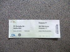 Parkplatz-Ticket Bundesliga 2011 / 2012 Schalke - Hertha BSC