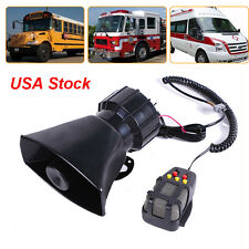 Car Warning Alarm Police Fire Siren Horn PA Loud Speaker MIC System 5 Sound Tone