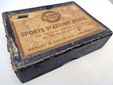 Vintage Webley Starting Pistol .22 Calibre Made in England Advertising Box Old#F