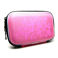 "5.2"" Inch Hard Eva Cover Case For Bag Magellan Roadmate 3030Lm 3045Lm 3055_PINK"
