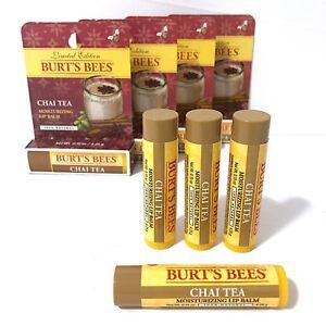 2 Burts Bees Chai Tea Moisturizing Lip Balm All Natural Limited Edition New