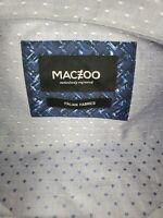 Maceoo Mens Long Sleeve Button Down Blue Diamond Print Shirt Size 3XL NEW NWT