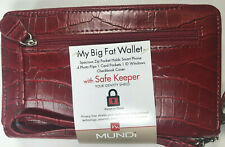 Mundi / My Big Fat Wallet / RED / Faux Croc Leather/ Safe Keeper NIB / Reg $40