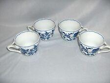 4 Vintage Blue Danube China Blue Onion Cups 50 Years Anniversary Japan NICE