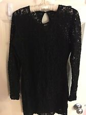 Motel Rocks Black Lace Bodycon Dress - Size M