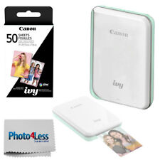 Canon IVY Mini Photo Printer (Mint Green) + ZINK Photo Paper 50 + Cleaning Cloth